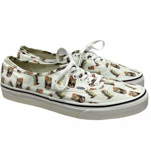 Vans Pineapple Skull Lace Up Sneakers Shoes